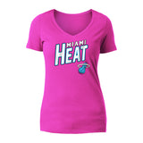Dwyane Wade New ERA Ladies Name & Number V-Neck Tee - 1