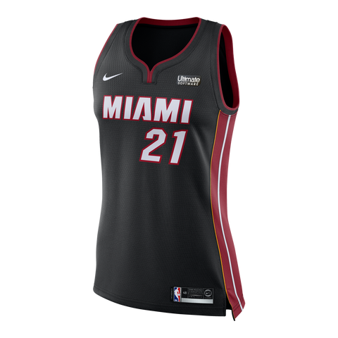 Hassan Whiteside Nike Miami HEAT Ladies Icon Black Swingman Jersey