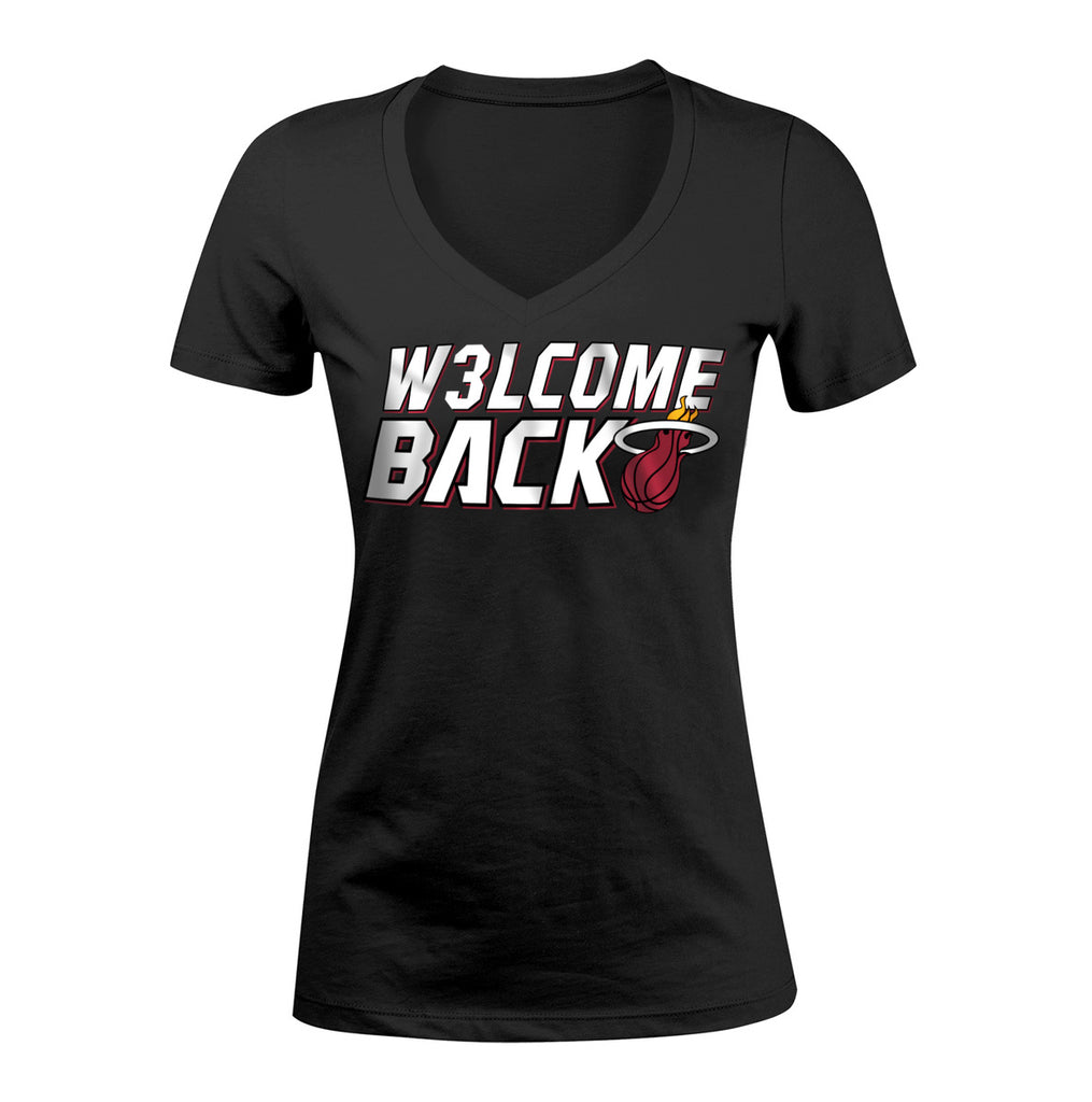 New ERA Miami HEAT Ladies Welcome Back Wade Tee - featured image