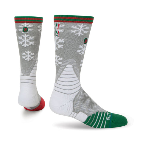 On-Court Christmas Claus Crew Socks