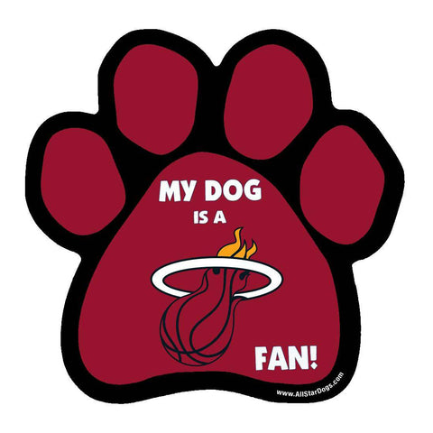 All Star Dogs Miami HEAT Paw Magnet