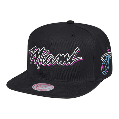 Mitchell & Ness ViceWave Miami Neon Light Snapback