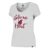 '47 Brand Miami HEAT Ladies Crosstown Scrum Scoop Tee - 1