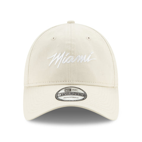 Court Culture Miami Script Khaki Dad Hat