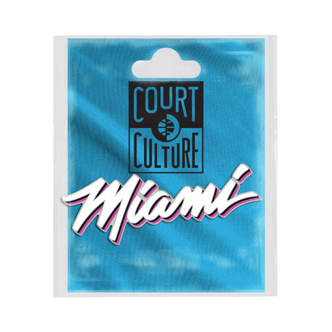 Court Culture ViceWave Miami Wordmark Pin