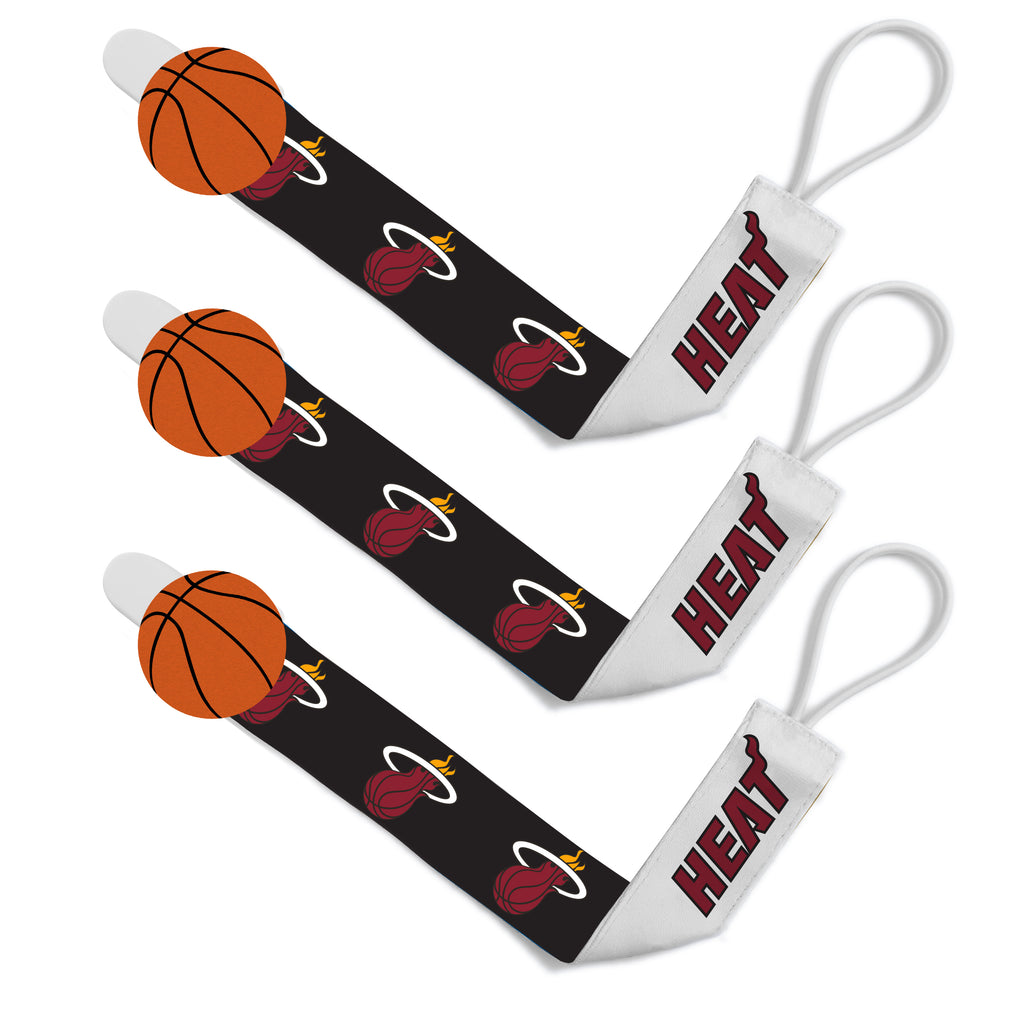 Baby Fanatics Miami HEAT Pacifier Clip/3Pack - featured image