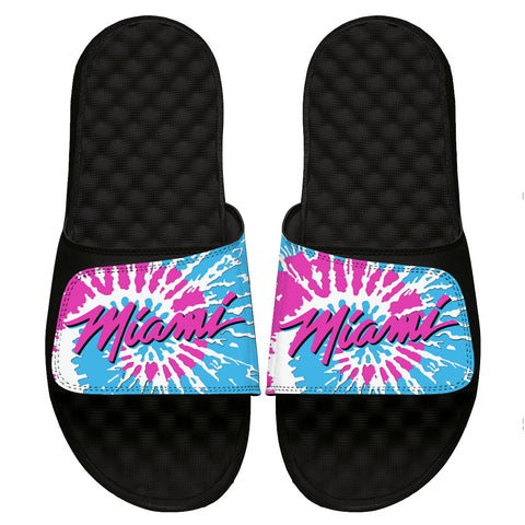 ISlide Miami HEAT Tie Dye Wordmark Sandals