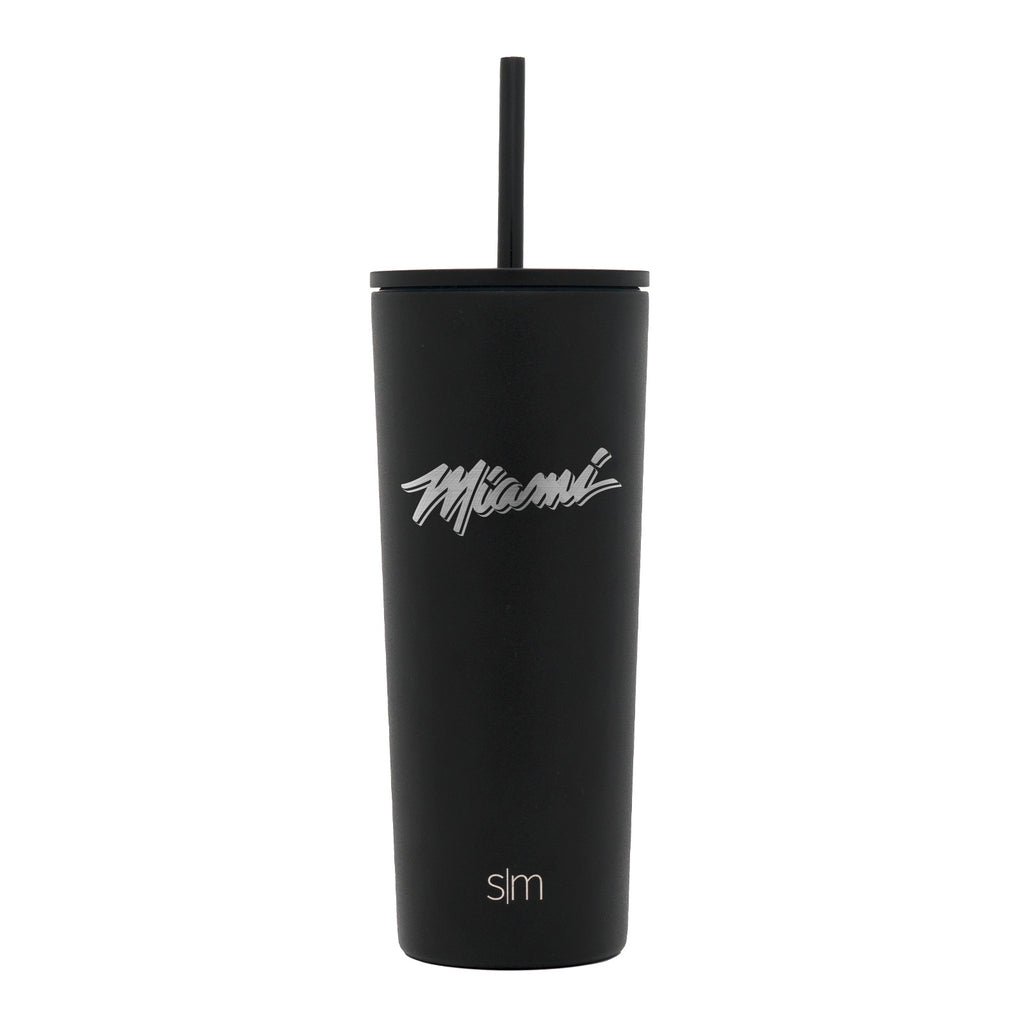 Simple Modern 24Oz Classic Miami Etch with Straw - featured image