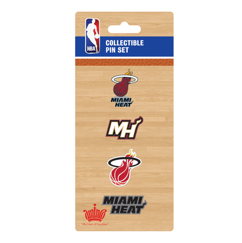 Aminco Miami HEAT Pin Logo Set
