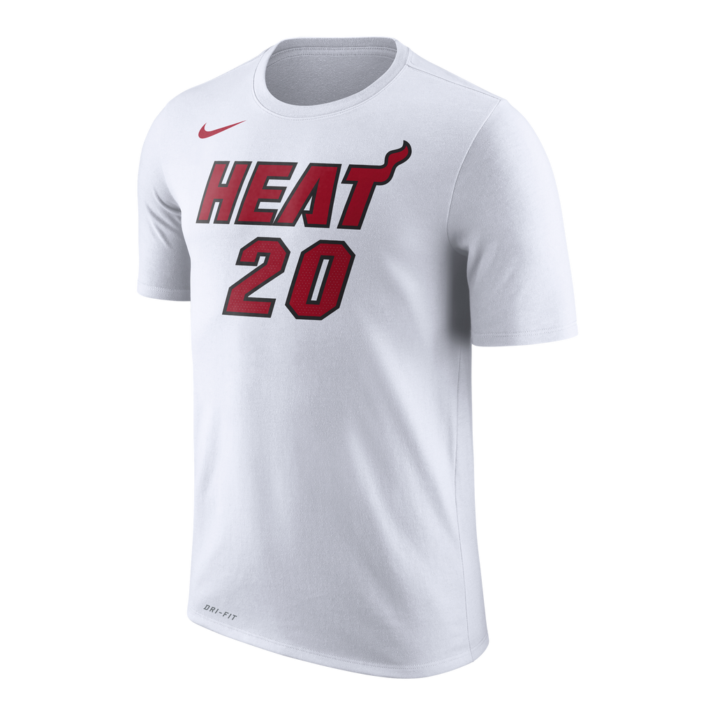 Justise Winslow Nike Miami HEAT White Name & Number Tee - featured image
