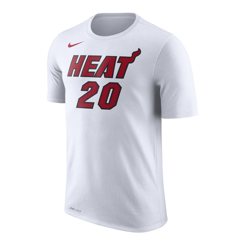 Justise Winslow Nike Miami HEAT White Name & Number Tee