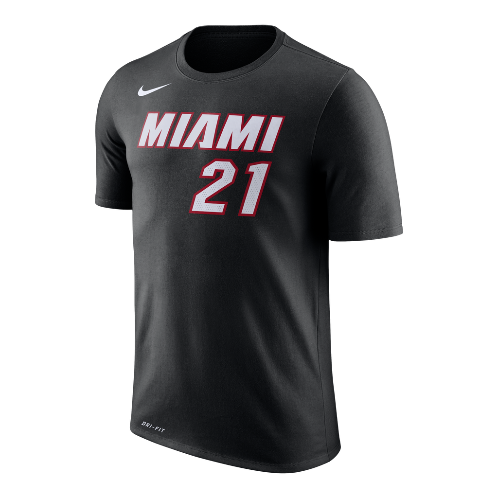 Hassan Whiteside Nike Miami HEAT Toddlers Name & Number Tee Black - featured image