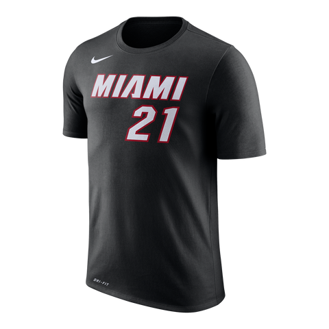 Hassan Whiteside Nike Miami HEAT Black Name & Number Tee