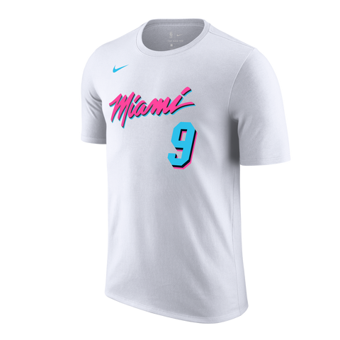 202392a0302 Kelly Olynyk Nike Miami HEAT Vice Uniform City Edition Youth Name   Number  Tee