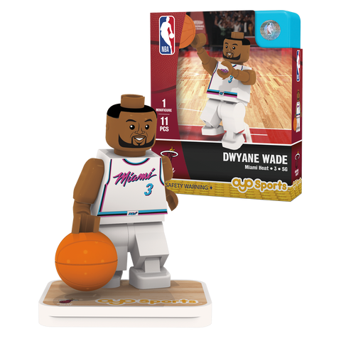 OYO Sports Miami HEAT Dwyane Wade Vice Uniform City Edition Minifigurine
