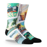PKWY WADE REMIX Postcard Party Socks - 1