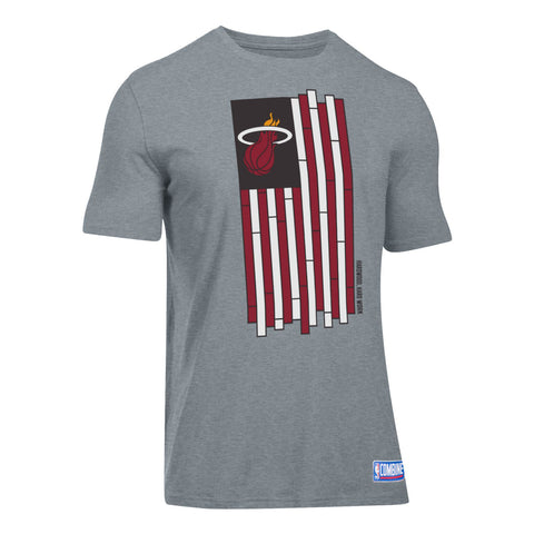 5cbd2ff1254b Under Armour Miami HEAT Short Sleeve Court Flag Tee
