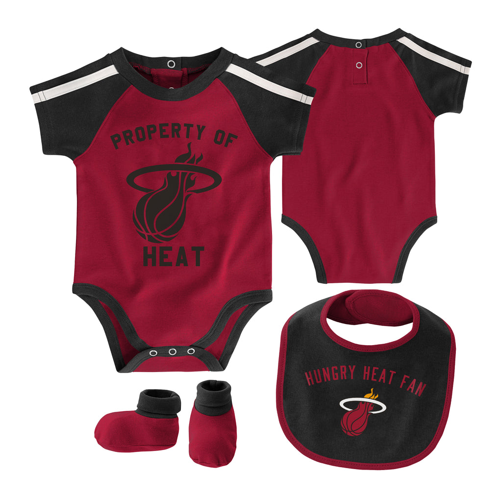 Miami HEAT Newborn Rebound Bib & Bootie Set - featured image