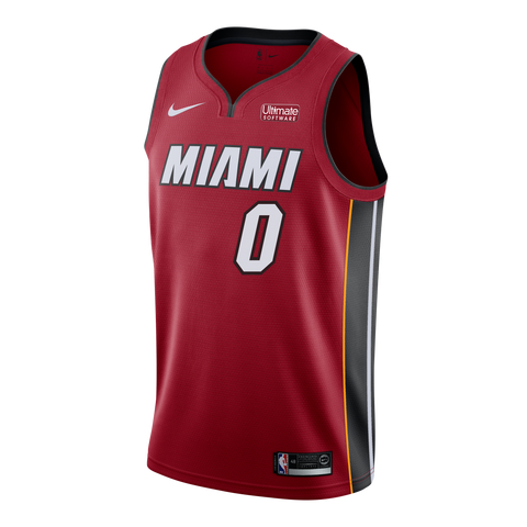 Meyers Leonard Nike Miami HEAT Youth Statement Red Swingman Jersey