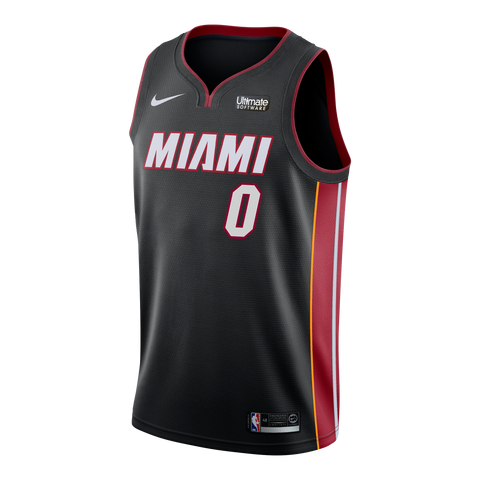 Josh Richardson Nike Miami HEAT Road Swingman Jersey Black