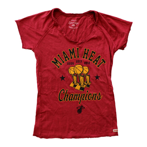 Sportiqe Ladies 3 Time Champs V Neck Tee