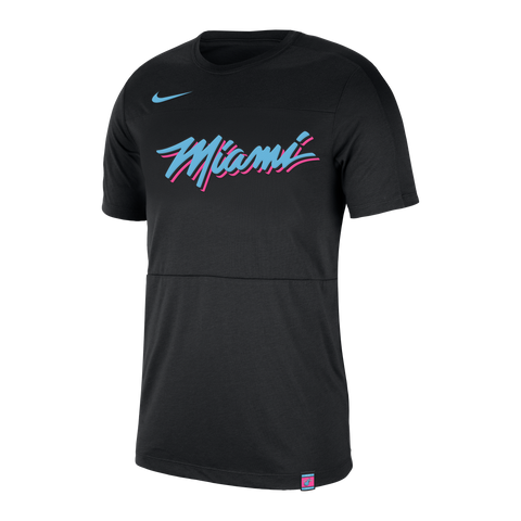 Nike Miami HEAT Vice Nights Short Sleeve Mesh Tee