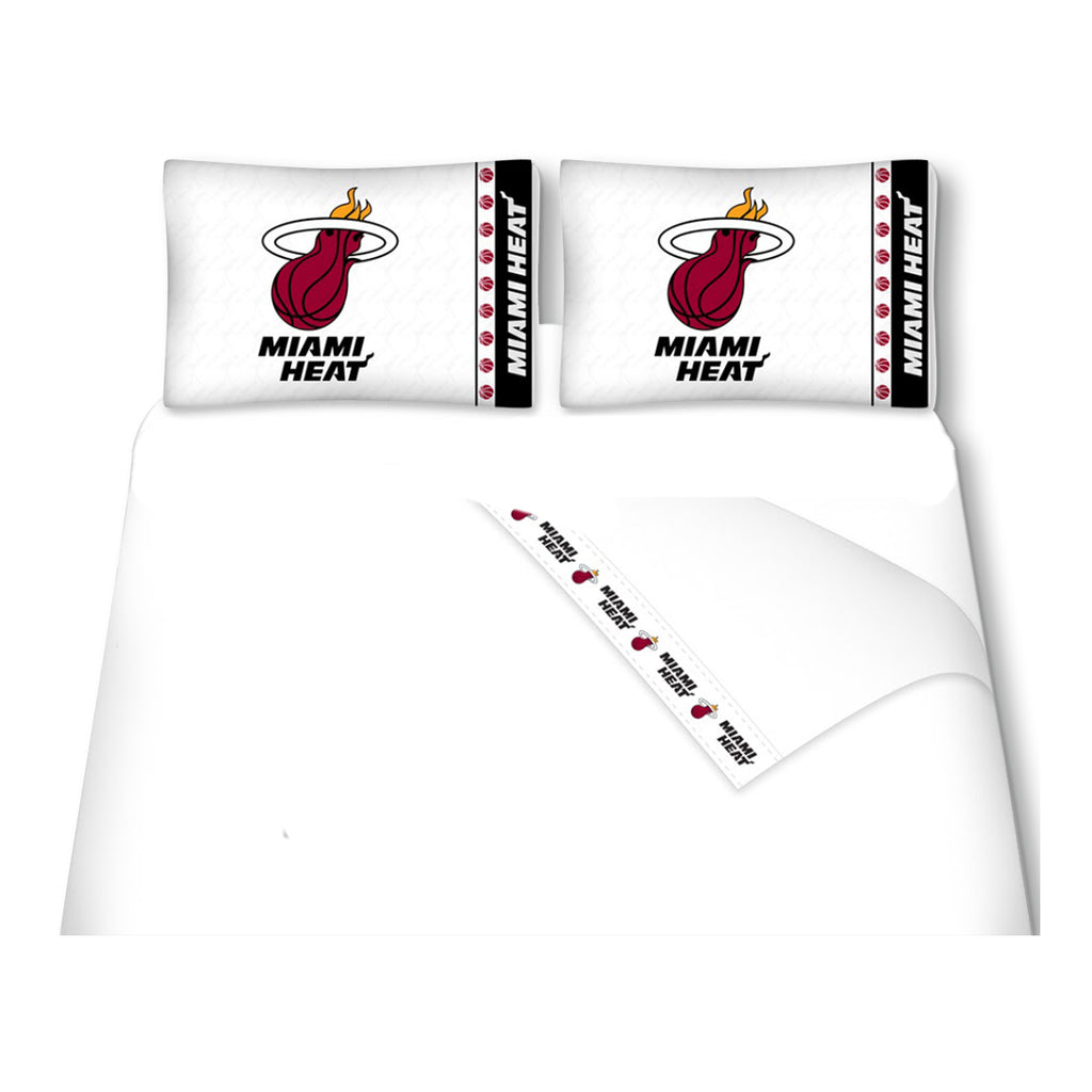 Sports Coverage Miami HEAT Twin Sheet Set - featured image