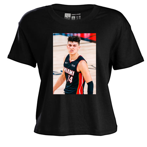 Court Culture Tyler Herro Snarl Ladies Crop Tee