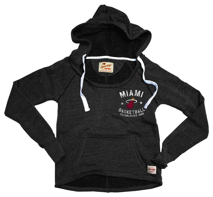 Sportiqe Miami HEAT Ladies Port Hoodie - featured image
