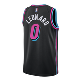 Meyers Leonard Nike Miami HEAT Youth Vice Nights Swingman Jersey - 2