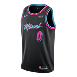 Meyers Leonard Nike Miami HEAT Youth Vice Nights Swingman Jersey - 1