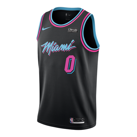 Meyers Leonard Nike Miami HEAT Youth Vice Nights Swingman Jersey