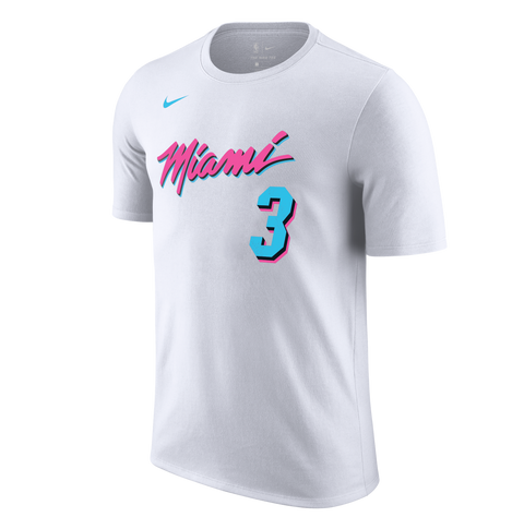 Dwyane Wade Nike Miami HEAT Vice Uniform City Edition Name & Number Tee
