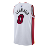 Meyers Leonard Nike Miami HEAT Youth Association White Swingman Jersey - 2