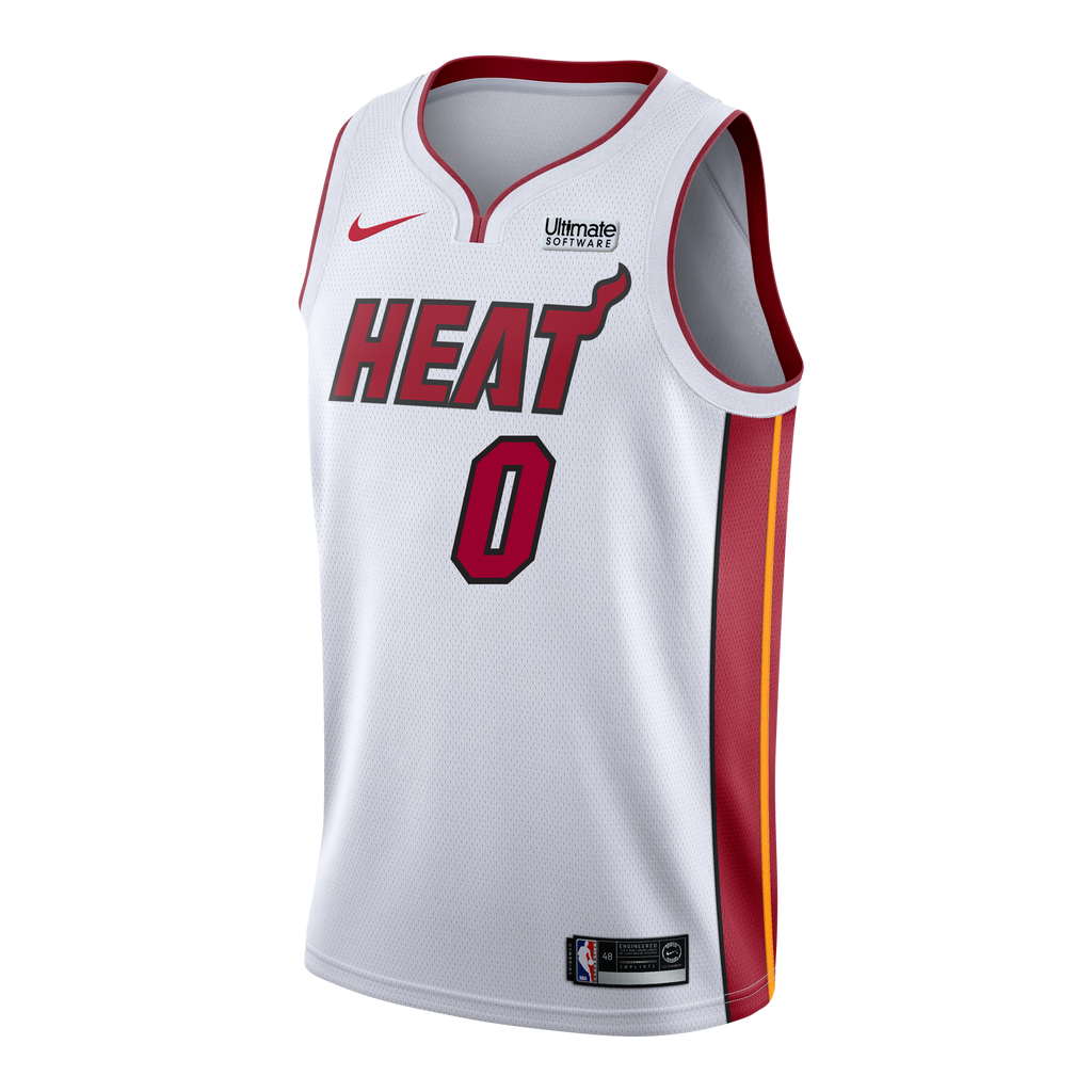 Meyers Leonard Nike Miami HEAT Association White Swingman Jersey - featured image