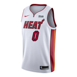 Meyers Leonard Nike Miami HEAT Youth Association White Swingman Jersey - 1