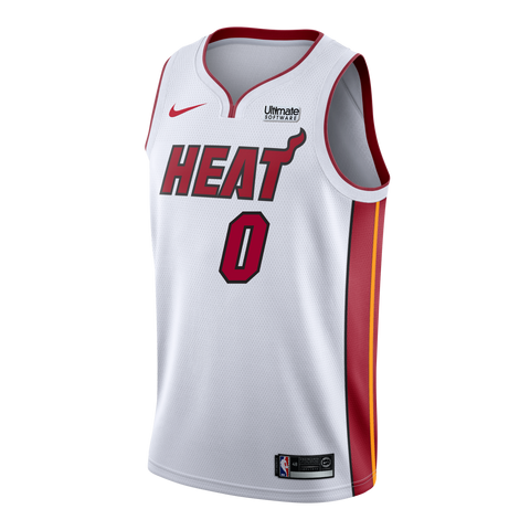 Meyers Leonard Nike Miami HEAT Youth Association White Swingman Jersey
