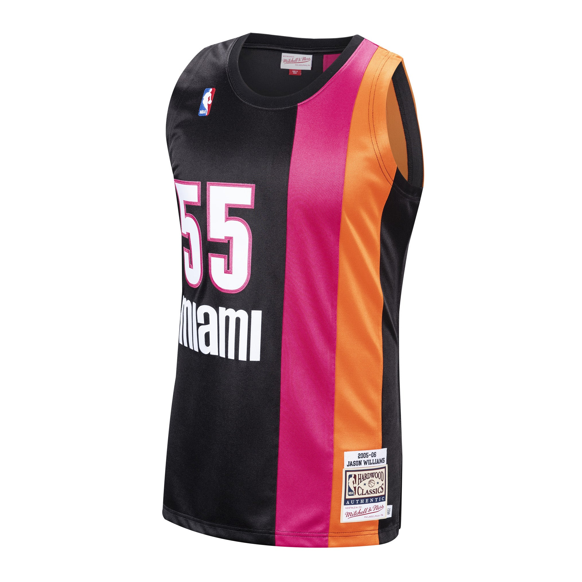 huge selection of 09f04 f14b5 Jason Williams Miami HEAT NBA Authentic Hardwood Classic ...