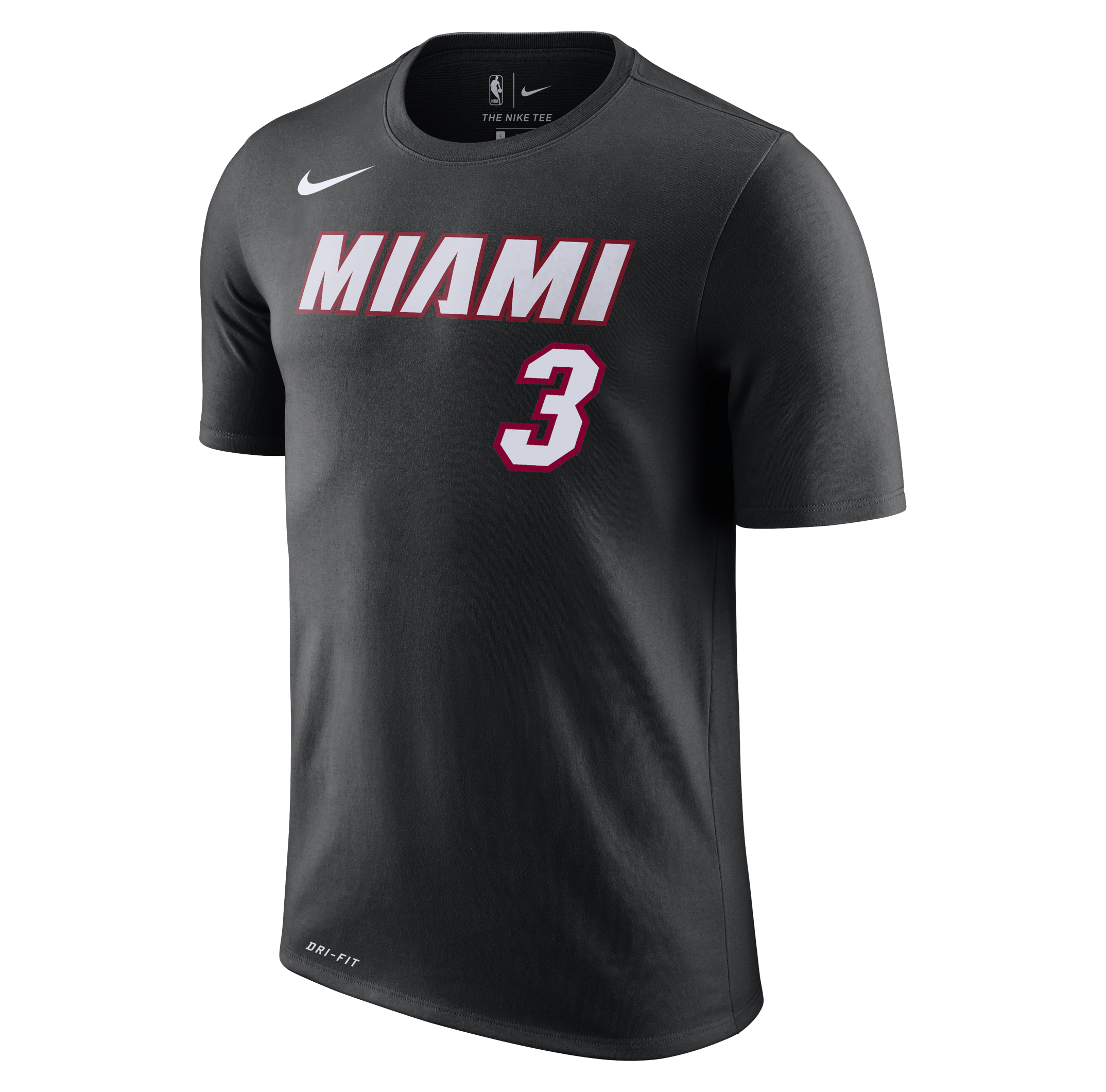 3cea1e4f1 Dwyane Wade Nike Miami HEAT Black Name & Number Tee – Miami HEAT Store