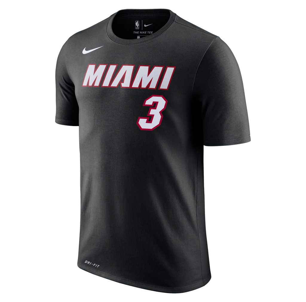 Dwyane Wade Nike Miami HEAT Youth Black Name & Number Tee - featured image
