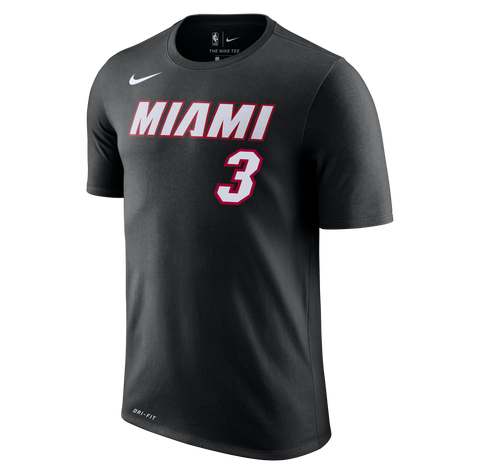 Dwyane Wade Nike Miami HEAT Black Name & Number Tee