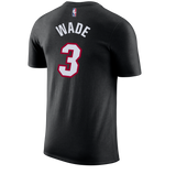 Dwyane Wade Nike Miami HEAT Youth Black Name & Number Tee - 2