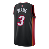 Dwyane Wade Nike Miami HEAT Icon Black Youth Swingman Jersey - 2