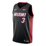Dwyane Wade Nike Miami HEAT Icon Black Youth Swingman Jersey - 1