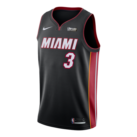 Dwyane Wade Nike Miami HEAT Icon Black Swingman Jersey
