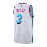 Dwyane Wade Nike Miami HEAT Vice Uniform City Edition Swingman Jersey - 2