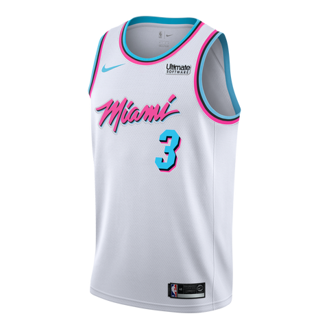 Dwyane Wade Nike Miami HEAT Vice Uniform City Edition Swingman Jersey