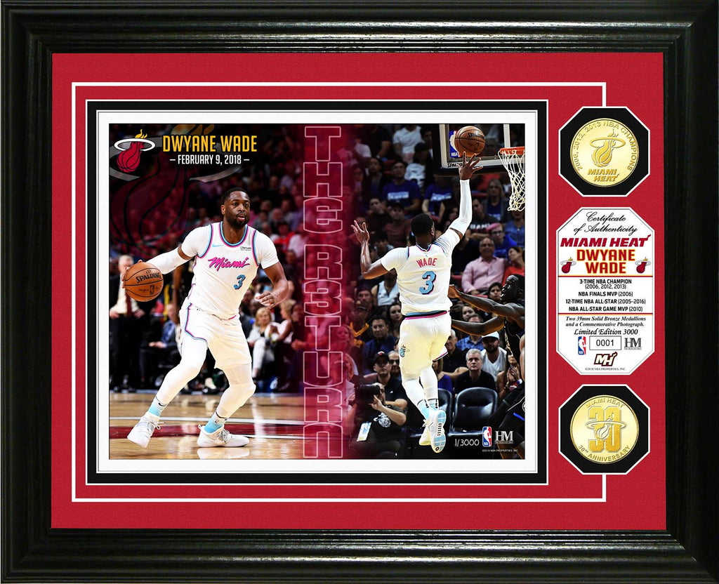 Highland Mint Dwyane Wade THE R3TURN Picture Frame - featured image