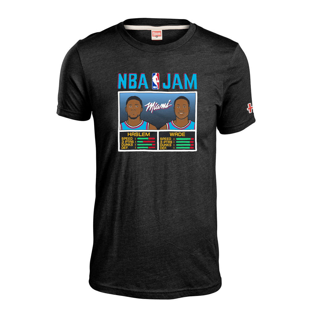 Homage Wade & Haslem NBA JAM Vice Wave Tee - featured image