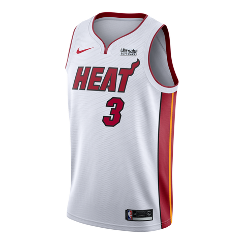 Dwyane Wade Nike Miami HEAT Association White Youth Swingman Jersey f218f5198c3e